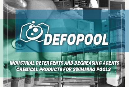 Defopool: Industrial detergents and degreasing agents. Chemical products for swimming pools